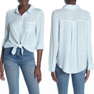 Abound Nordstroms Semi Sheer Striped Button Down
